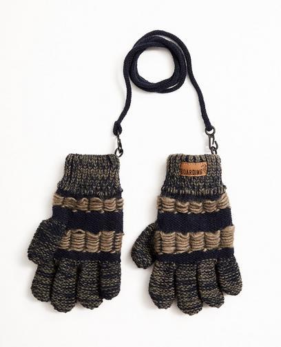 Gestreepte handschoenen